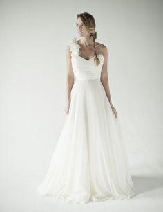 one strap wedding dress Annette Chaviano