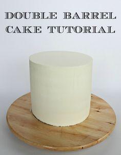 Lori Howell Cakes   Building a Double Barrel Cake   http://www.lorihowellcakes.com