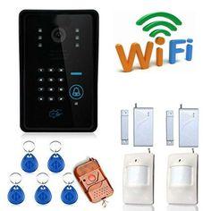 free ship WIFI door intercom video intercom video doorphone Video Door Phone Doorbell with PIR motion detector and doorsensor