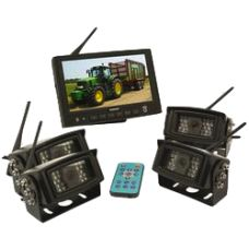 Wireless Reversing Camera System with Monitor & 4 camera's Walkie Talkie, Monitor, Electronics, Consumer Electronics