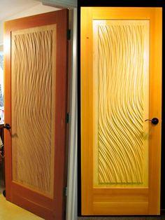 Scuola Artigianato Tecnologico eFalegname CNC textured-door.jpg (450×600) & Wavy door panel very cool. Woodworking. CNC machining. Plywood ...