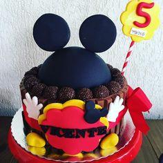 Créditos: @solangecake Festa Mickey Mouse
