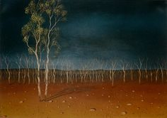 Lin Onus -  Desert Landscape - 1996.  Painter extraordinaire and fine human being, sadly died at 48.