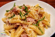 Perfectly rich and creamy - this Penne alla Carbonara is one of the best pasta dishes out there. Check it out