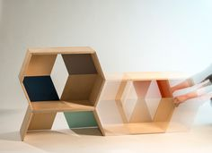 Stack Modular Shelves by  Leah Kenttamaa-Squires