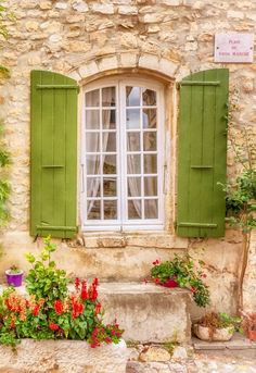 Photo by India Harris on - Châteauredon, Alpes-de-Haute-Provence, France Old Windows, Windows And Doors, Travel Photographie, Haute Provence, Provence France, Cottage Windows, Through The Window, Old Doors, Window Boxes