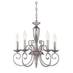 Pewter Finish Multi-Light Interior Chandelier-CLI-SH202851595 at The Home Depot