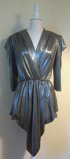 Rockin Metallic Grey Punk/New Wave/Disco Original 80s Fashion, Vintage Fashion, Disco Costume, Funky Hats, 80s Prom, Roller Disco, 1980s Dresses, Miami Vice, 80s Style