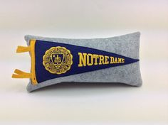 University of Notre Dame Fighting Irish Vintage Pennant Pillow by MGDesigns
