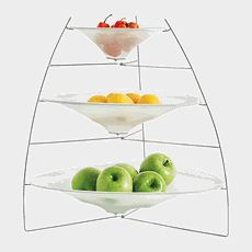 Chilewich 3 Tier Ray Tray Off-White