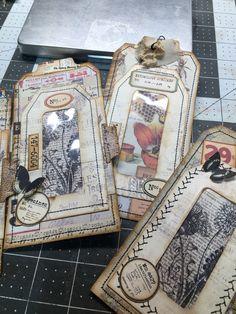 Handmade Tags, Handmade Books, Journal Cards, Junk Journal, Paper Bag Books, Junk Art, Nature Journal, Album Book, Vintage Tags