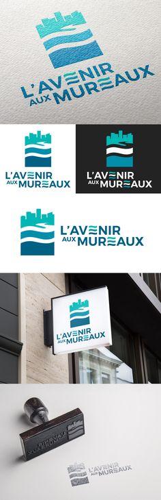 Identité visuelle L'Avenir aux Mureaux par Sofia Doudine Graphiste & Webdesigner B2B Freelance www.sofiadoudine.com