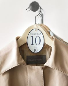 Get the clip art and how-to for these clever coat-check tags perfect for wedding guests