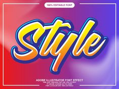 Strong bold and colorful font effect Vector Letras Abcd, Text Style, Text Effects, New Fonts, Plaster, Picture Quotes, Typography, Strong, Colorful
