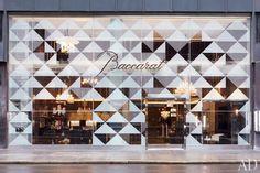 The façade of Baccarat's new Manhattan flagship,  designed by RafaeldeCárdenas