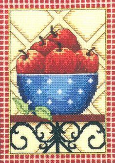 Bowl Full of Apples Cross stitch