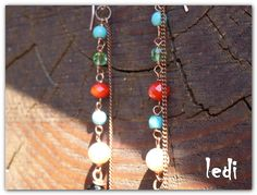 Rainbow Earrings di NakedWords su Etsy