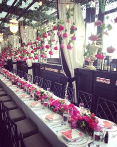 A very sexy menu for a rooftop champagne brunch at chandelier 200 yves piaget roses suspended for a rooftop champagne brunch at chandelier events we aloadofball Image collections