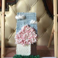 철지난 벗꽃나무 한그루 #위빙#위빙타피스트리#광주위빙#광주위빙타피스트리#위빙룸 #위빙실#직조#직조공방#위빙공방#weaving#weavingloom #weavingtapestry#뜨개질 #코바늘#crochet#손뜨개소품#cottonyarn #뜨개실#클래스문의#