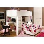 South Shore Logik Loft Bed Collection, White