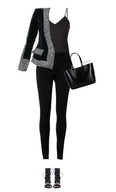 """""""How to Style a Black Velvet Blazer"""" by outfitsfortravel ❤ liked on Polyvore featuring Frame Denim, Max Studio, Balmain, Zimmermann, Yves Saint Laurent, Effy Jewelry and David Yurman"""