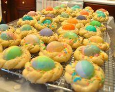 Italian cookies, nest with eggs