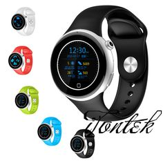 Sport Watch C5 BT4.0 1.22″ Round IPS Display Waterproof Support 360 Degrees Clockwise Heart Rate Monitor SOS Call Voice Control