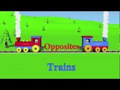 Opposites: Trains - Learning for Kids (Episode 1)