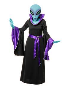 Alien Queen Robe Adult Womens Costume Adult Costumes, Costumes For Women, Alien Costumes, Couple Costumes, Outer Space Costume, Alien Halloween Costume, Maleficent Costume, Spirit Halloween, Space Costumes