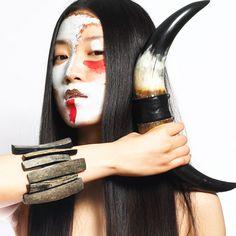 Dandi Maestre - one of a kind design  horn bracelet