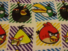 """Cool """"ANGRY BIRDS CHARACTERS"""" Handmade Cotton Flannel Pillowcase Stan/Queen #Handmade #Fantasy"""