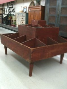 Antique General Store Candy Bin. I'm seeing either an herb garden or a great organization piece for a craft room.