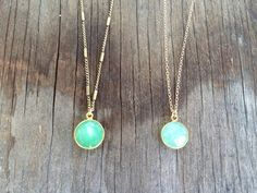 Items similar to Druzy Necklaces with Chrysoprase Stone Accents on Etsy Stone Pendants, Bright Colors, Trending Outfits, Unique Jewelry, Handmade Gifts, Necklaces, Pendant Necklace, Chain, My Style