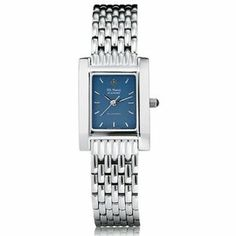 "US Naval Academy Women's Swiss Watch - Blue Quad Watch with Bracelet by M.LaHart & Co.. $299.00. Classic American style by M.LaHart. Officially licensed by the US Naval Academy. Three-year warranty.. Swiss-made quartz movement with 7 jewels.. Attractive M.LaHart & Co. gift box.. U.S. Naval Academy women's steel watch featuring USNA crest at 12 o'clock and ""U.S. Naval Academy"" inscribed below on the blue dial. Swiss-made quartz movement with 7 jewels. Blue dial with hand-..."