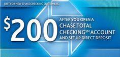 Chase Bank account opening bonus coupons
