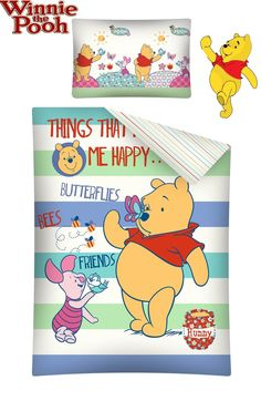 DISNEY WINNIE THE POOH BEDDING SET COT BED/JUNIOR