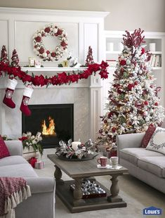 Make the most of an open floor plan with perfectly placed holiday décor. Use our tips for creating a focal point and scaling decorations throughout your home.