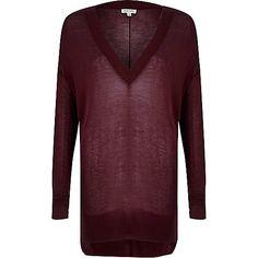 Dark purple sheer V-neck £25