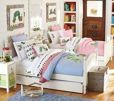 Find shared bedroom ideas and inspiration at Pottery Barn Kids. Discover room ideas that will be able to handle multiple kids and styles. Boy And Girl Shared Room, Boy Girl Bedroom, Big Girl Rooms, Kids Rooms, Childs Bedroom, Room Kids, Boy Rooms, Small Rooms, Pottery Barn Kids