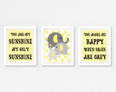 You Are My Sunshine Nursery Decor Gift for by PerfectLittlePrints