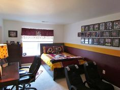 Redskins Themed Room Sent Tracey Burgundy Amp Gold Home Football Rooms