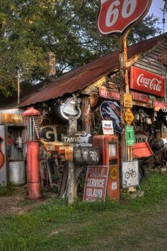 would love to have some of these signs hanging up in my garage now Man Store, Country Charm, Country Life, Country Roads, Country Living, Coca Cola, Old Gas Pumps, Vintage Gas Pumps, Old General Stores