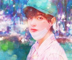 Read babe from the story Taekook Fanarts fluff / by GCmoon (MoOnTae) with reads. Taehyung Fanart, Bts Taehyung, Seokjin, Namjoon, Hoseok, V Chibi, Bts Anime, Les Bts, Bts Drawings