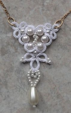 "West Pine Creations: Bridal Swirl Necklace [   ""Bridal Swirl Necklace The matching necklace."" ] #<br/> # #Needle #Tatting,<br/> # #Tatting #Lace,<br/> # #Tatting #Jewelry,<br/> # #Swirls,<br/> # #Pine,<br/> # #Challenges,<br/> # #Income<br/>"