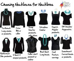How to Choose Necklaces to Work with Your Neckline, turtle neck, boat neck, strapless - which necklace will work best?