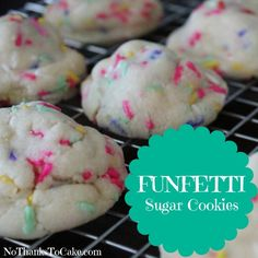 Funfetti Sugar Cookies  | No Thanks to Cake