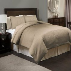 Shop for Lush Decor Channel Taupe Comforter Set - Beige. Get free delivery On EVERYTHING* Overstock - Your Online Fashion Bedding Store! Taupe Comforter, Queen Comforter Sets, King Comforter, Bedding Sets, Home Bedroom, Bedroom Decor, Bedroom Ideas, Master Bedrooms, Lush