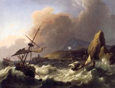 Bakhuizen Storm in the Sea - Category:Paintings of ships in distress - Wikimedia Commons