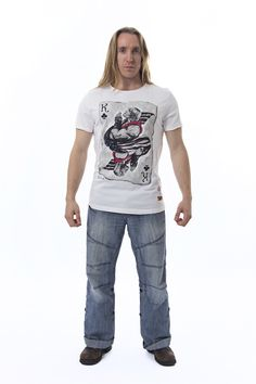You won't need a club when you get this T-shirt, you'll already be the ultimate Street Fighter! Ok, ok, so this official Capcom Ken of Clubs T-shirt won't turn you into the next Bruce Lee, but it will make you look cool as hell while you're playing Street Fighter V.