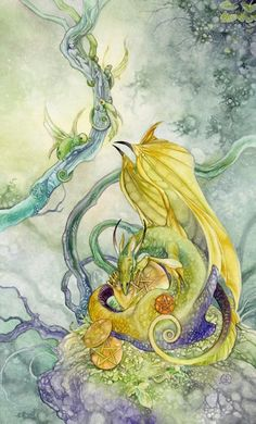 Four of Pentacles by Stephanie Pui-Mun Law / puimun (Shadowscapes Tarot)